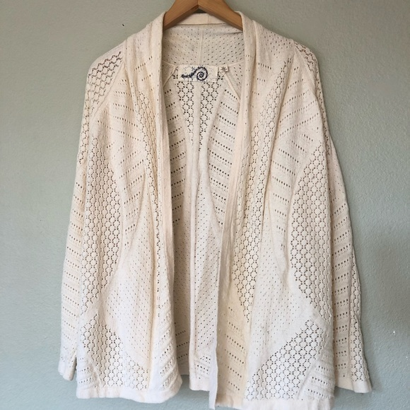 Anthropologie Sweaters - Anthropologie Rosie Neira Open Knit Cardigan L